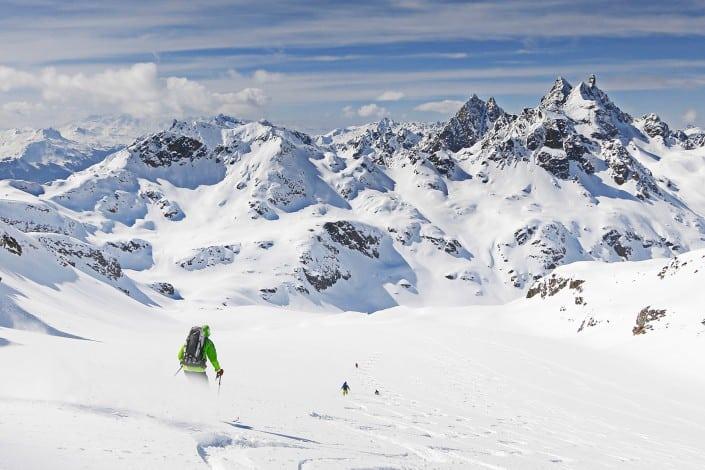 freeride st.anton arlberg off piste skiing mountain guide piste to powder ski guide backcountry powder skiing
