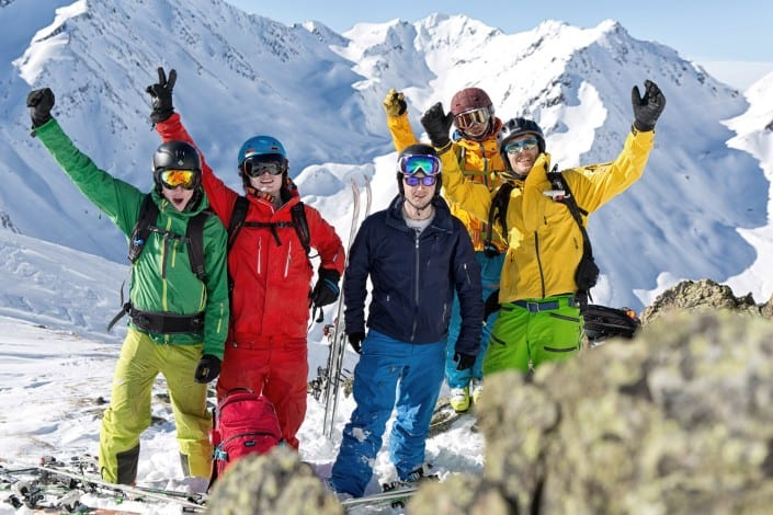 ptp-group-01-freeride st.anton arlberg off piste skiing mountain guide piste to powder ski guide backcountry powder skiing