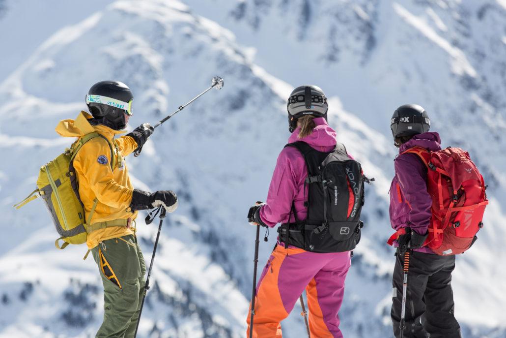 skitouring piste to powder st.anton arlberg guiding
