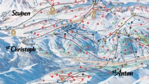 St Anton am Arlberg pistemap plan