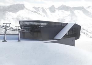 A station of the brand new Schindlergratbahn gondola lift