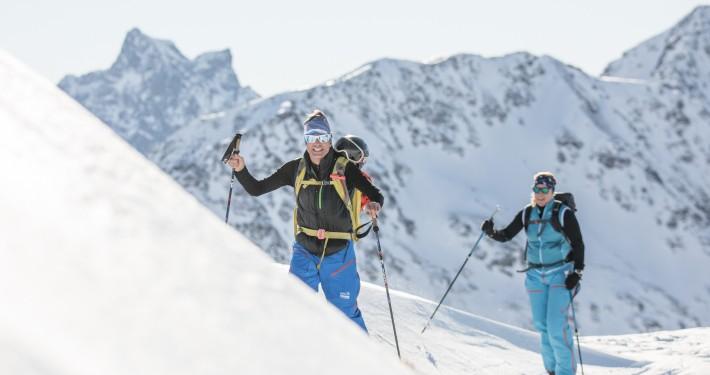 piste to powder ski touring guiding st anton lech zürs arlberg book your private guide | buche deinen privaten bergführer in st anton