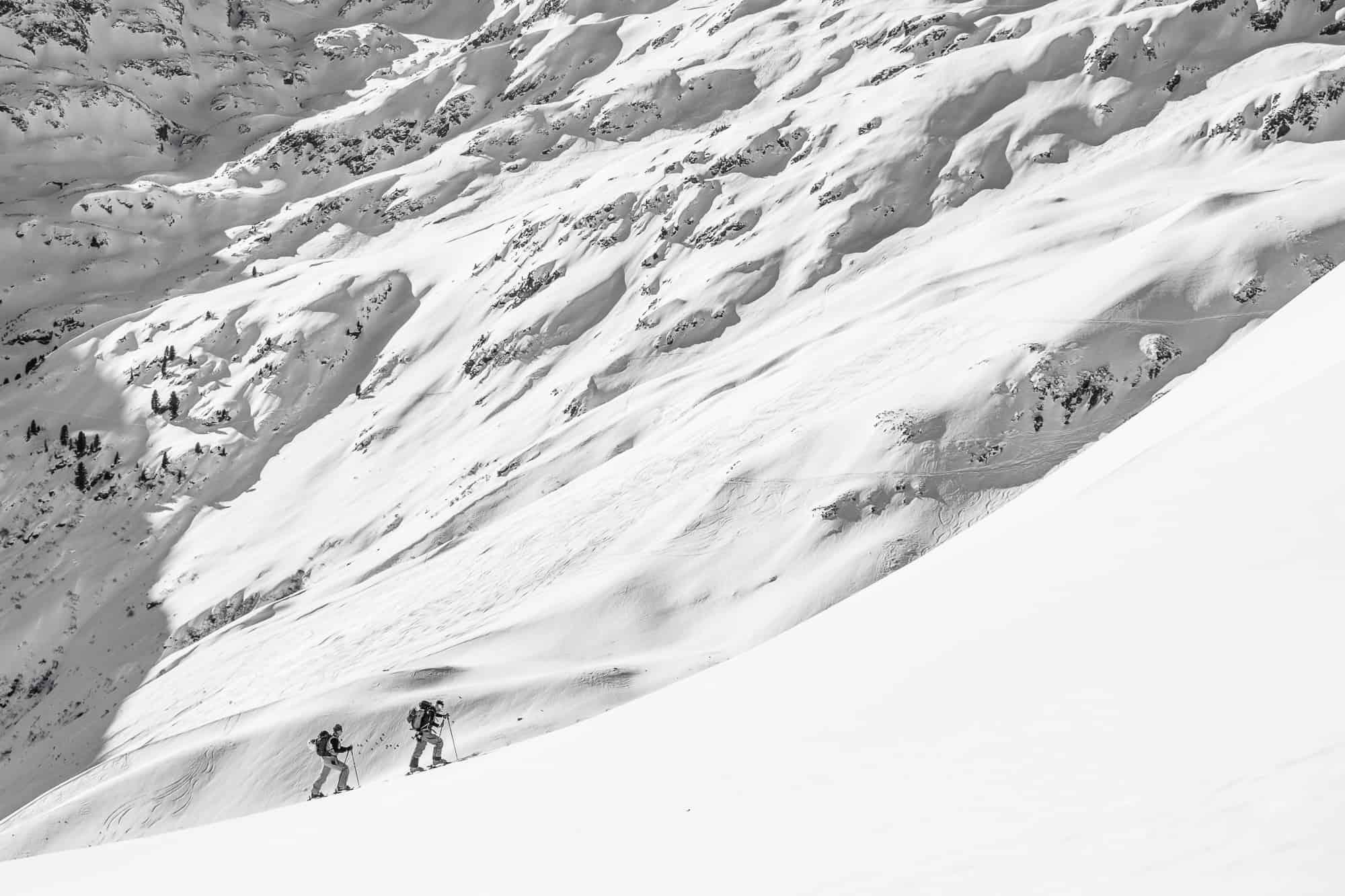 piste to powder ski touring trip - guided ski tour holidays with our mountain guides